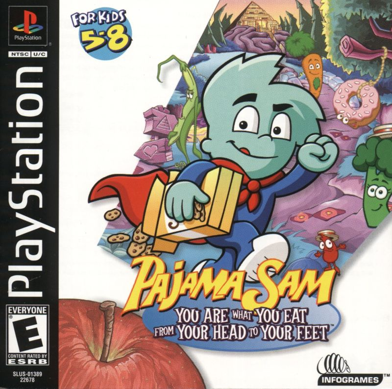 Pajama Sam 3: You Are What You Eat From Your Head To Your Feet PlayStation Front Cover