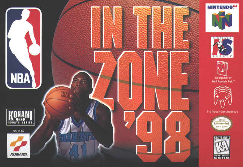 NBA in the Zone '98 Nintendo 64 Front Cover