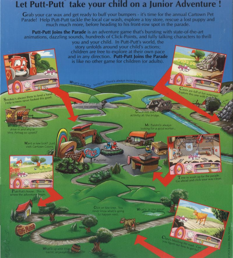 Putt-Putt Joins the Parade DOS Back Cover