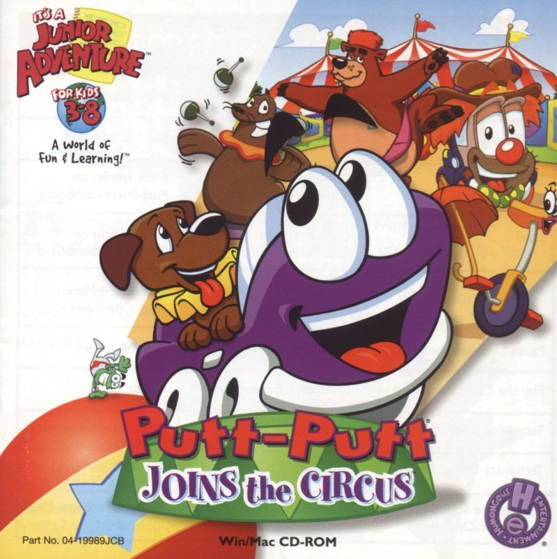 Putt-Putt Joins the Circus Macintosh Front Cover