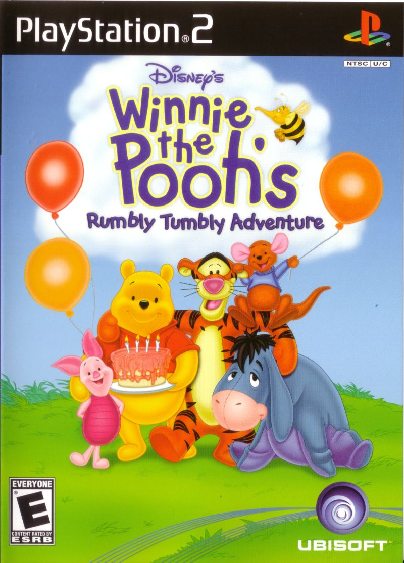Disney's Winnie the Pooh's Rumbly Tumbly Adventure PlayStation 2 Front Cover