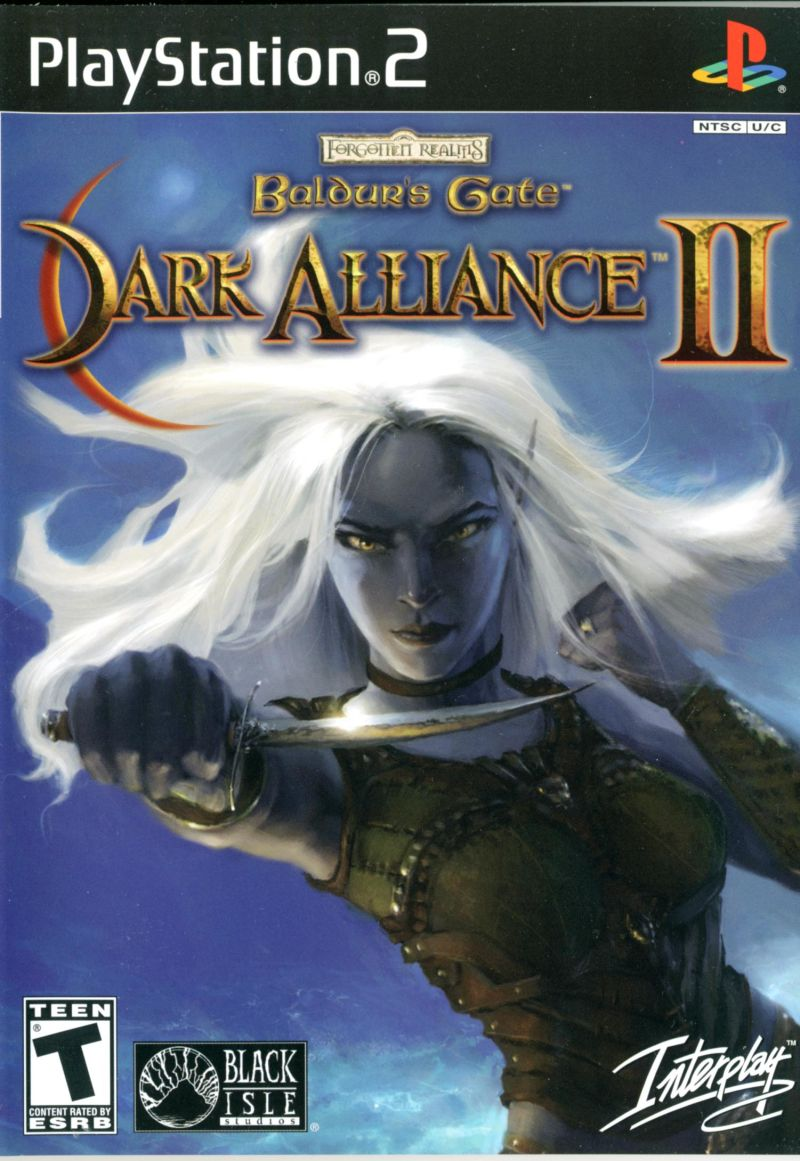 Baldur's Gate: Dark Alliance II PlayStation 2 Front Cover