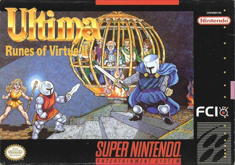 Ultima: Runes of Virtue II SNES Front Cover