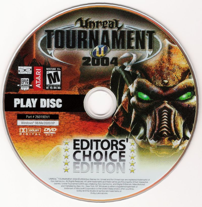 Unreal Tournament 2004: Editor's Choice Edition Windows Media Play Disc