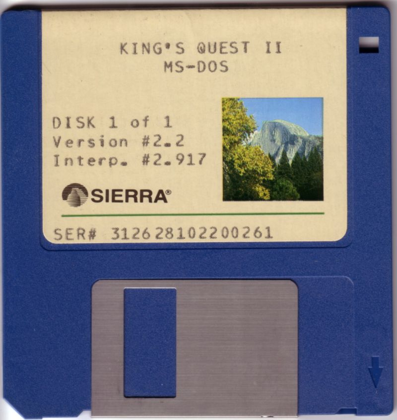 King's Quest II: Romancing the Throne DOS Media