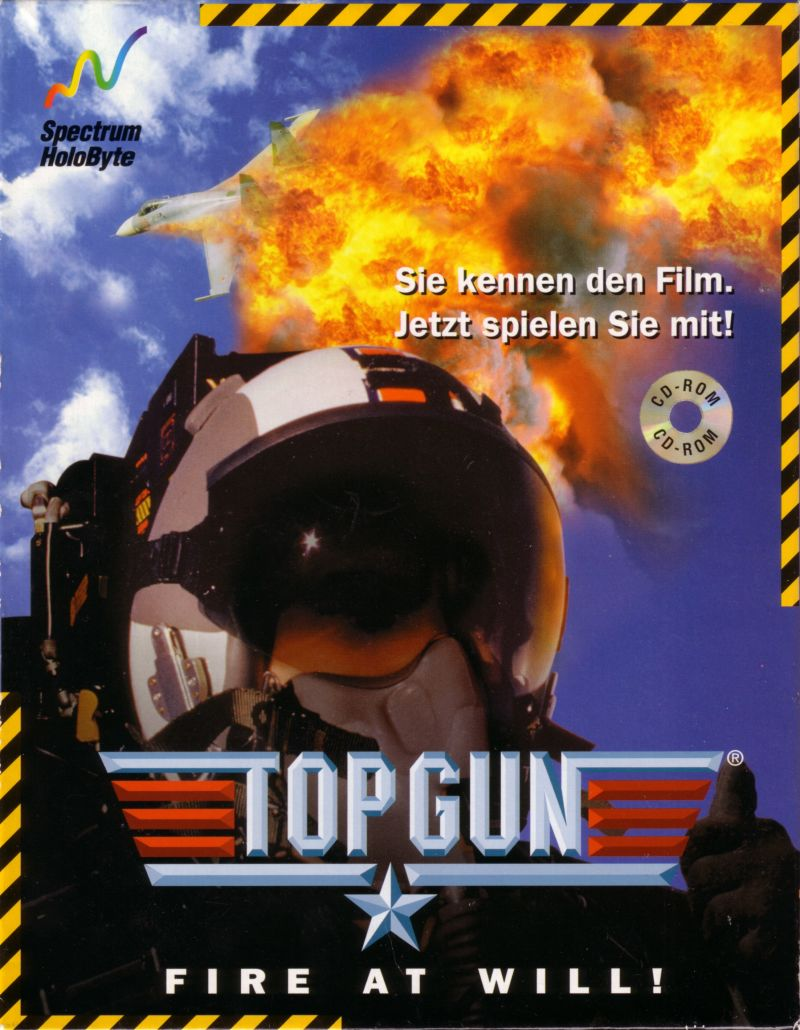 Top Gun: Fire at Will! DOS Front Cover