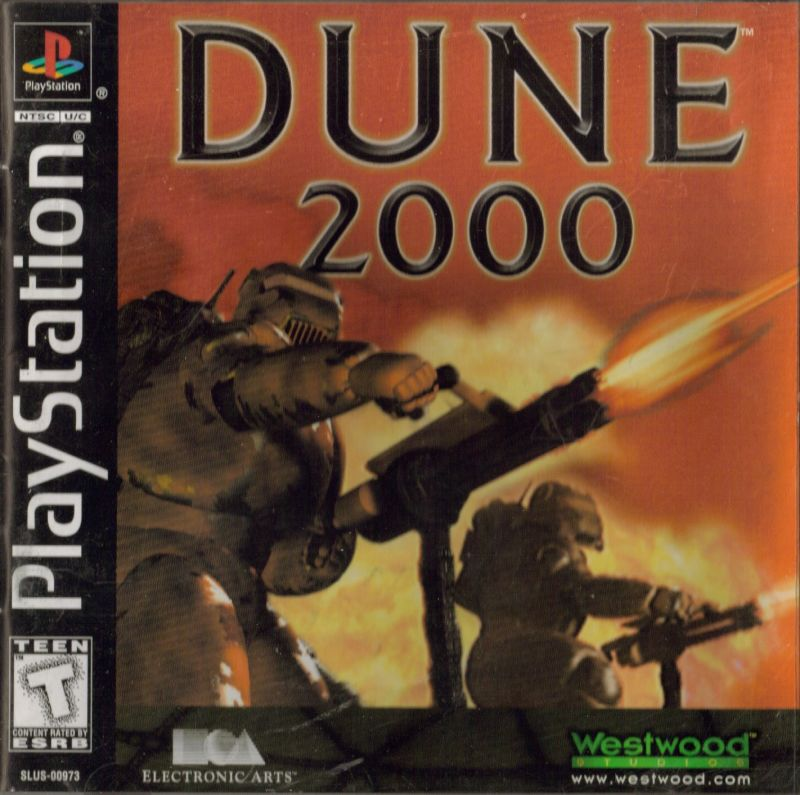 Dune 2000 PlayStation Front Cover