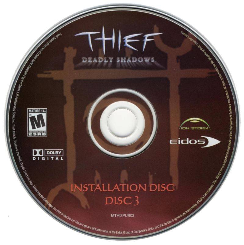Thief: Deadly Shadows Windows Media Disc 3/3