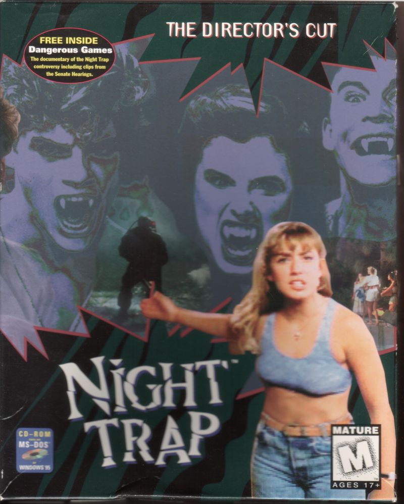 Night Trap DOS Front Cover