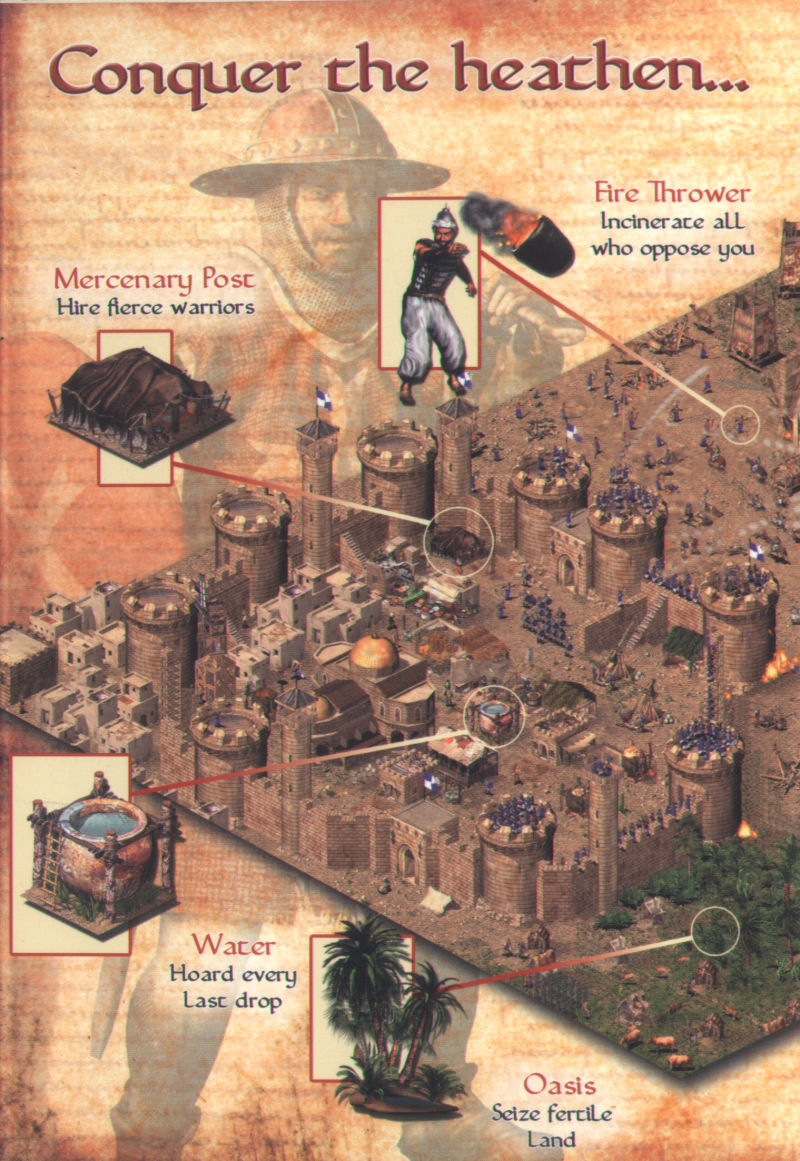 FireFly Studios' Stronghold Crusader Windows Inside Cover Left Flap