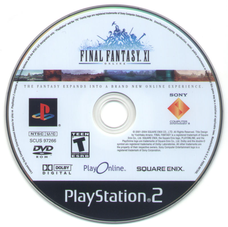 Final Fantasy XI Online PlayStation 2 Media Disc 1 - Final Fantasy XI and Rise of Zilart Expansion