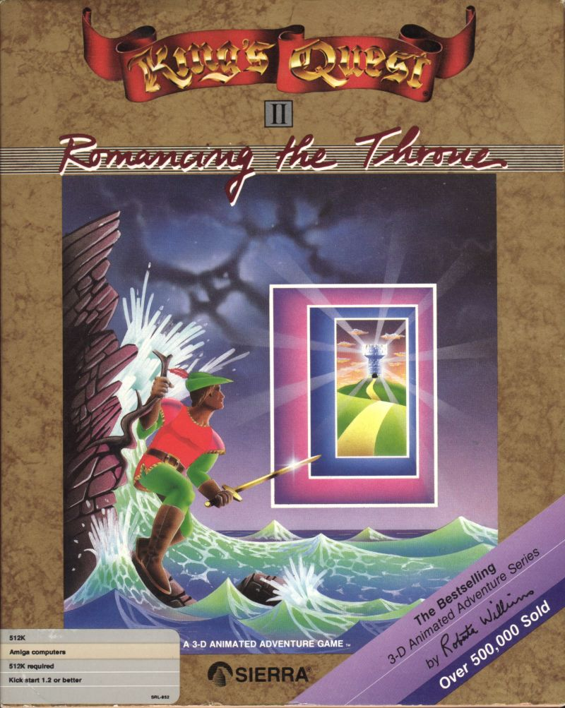 King's Quest II: Romancing the Throne Amiga Front Cover