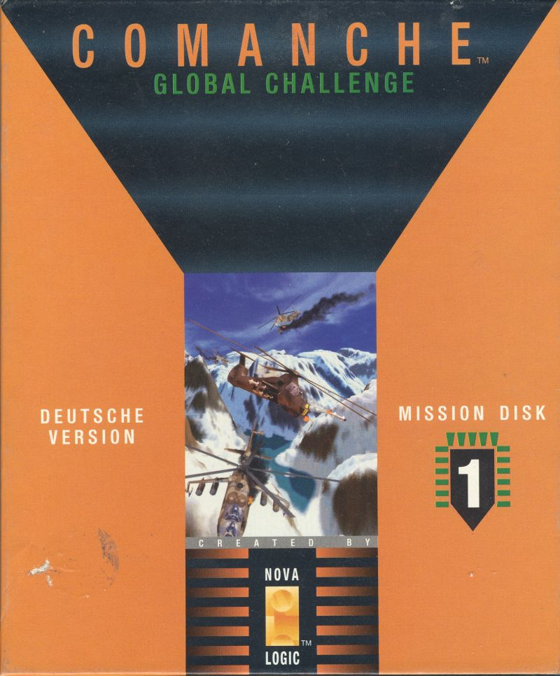 Comanche: Maximum Overkill - Mission Disk 1 DOS Front Cover