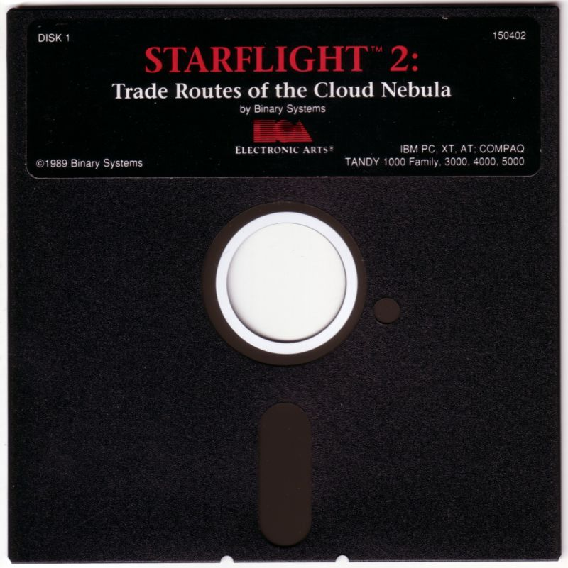 Starflight 2: Trade Routes of the Cloud Nebula DOS Media Disk 1/2