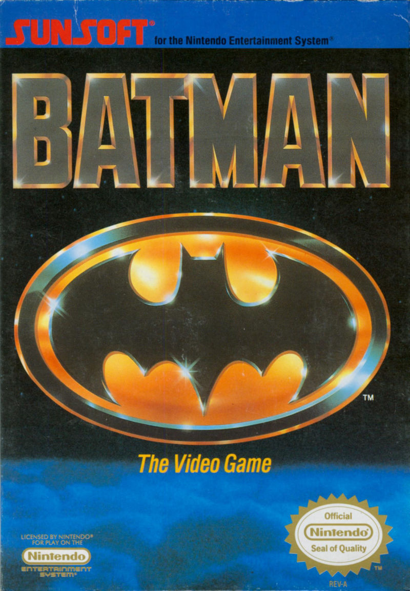 Batman: The Video Game NES Front Cover