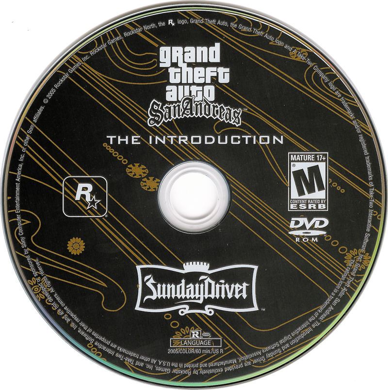 Grand Theft Auto: San Andreas (Special Edition) PlayStation 2 Other Bonus DVD