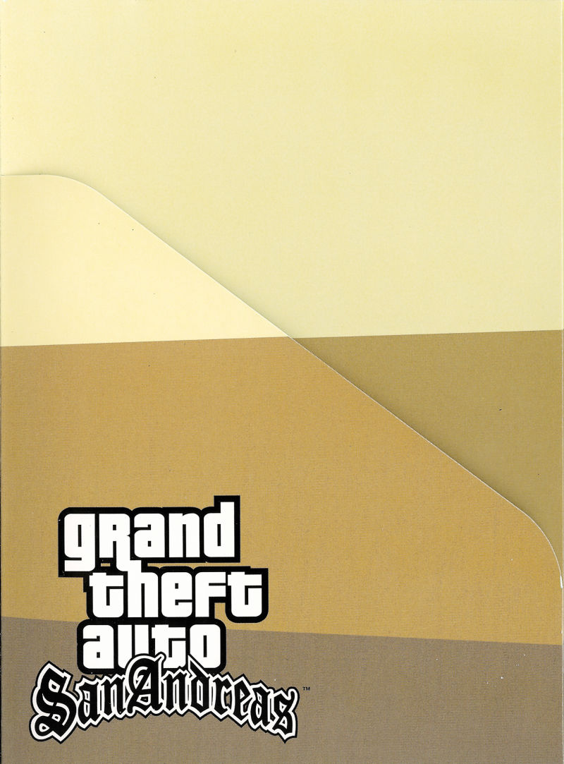 Grand Theft Auto: San Andreas (Special Edition) PlayStation 2 Other Game Case - Inside Cover Left