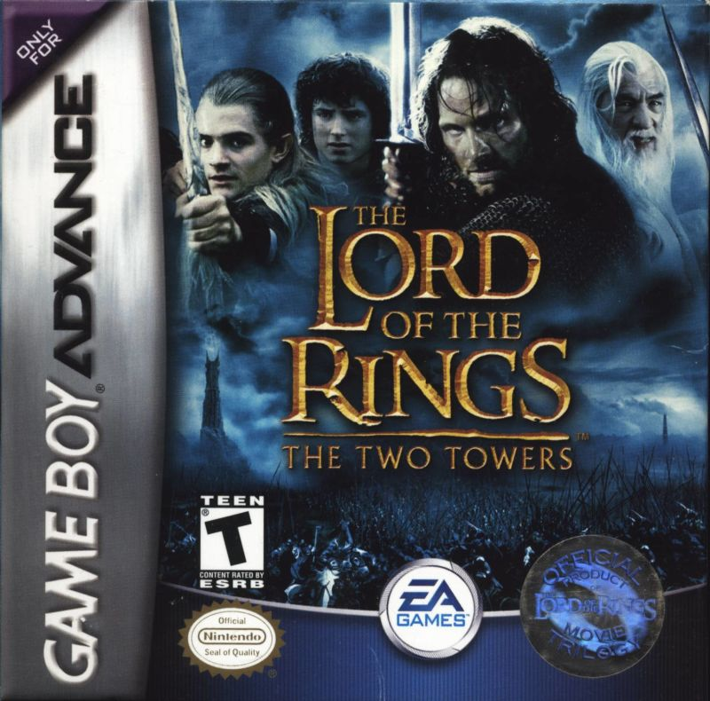 The Lord of the Rings: The Two Towers Game Boy Advance Front Cover