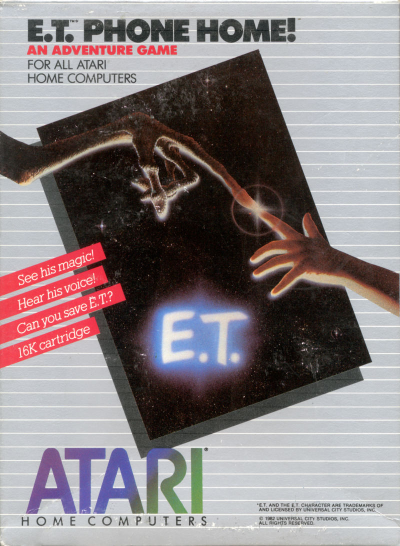 E.T. Phone Home! Atari 8-bit Front Cover