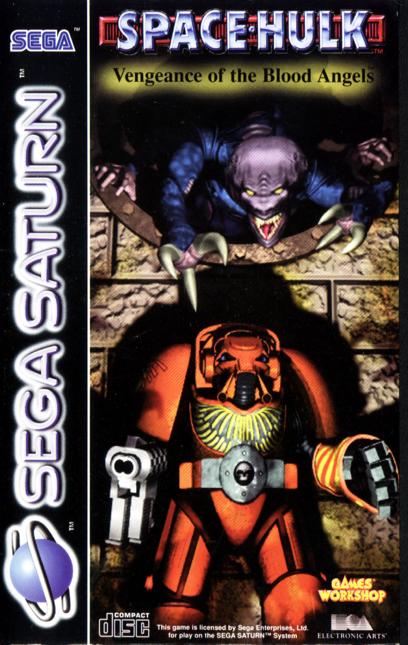 Space Hulk: Vengeance of the Blood Angels SEGA Saturn Front Cover