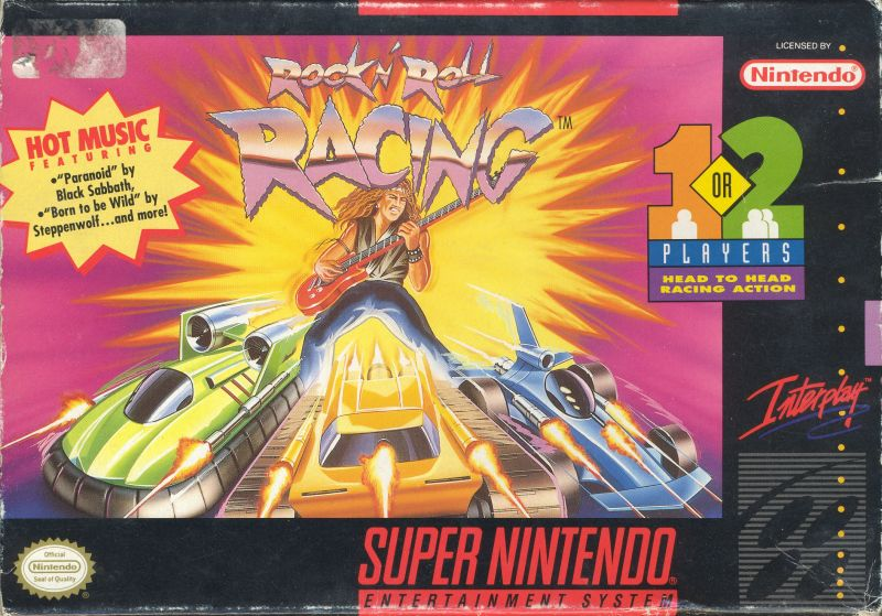 Rock 'n Roll Racing SNES Front Cover