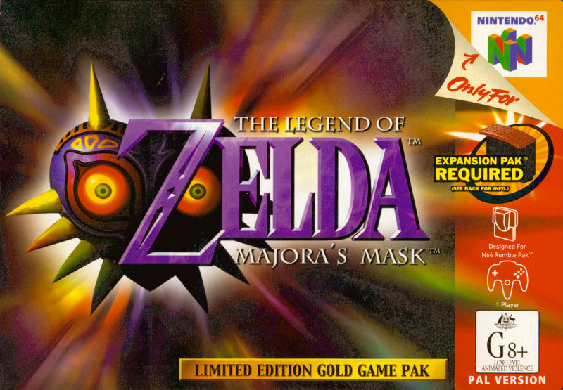 The Legend of Zelda: Majora's Mask Nintendo 64 Front Cover