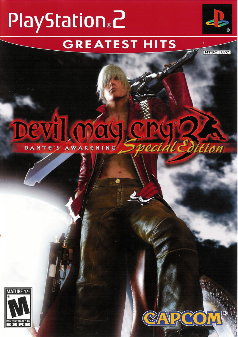 Devil May Cry 3: Dante's Awakening (Special Edition) PlayStation 2 Front Cover