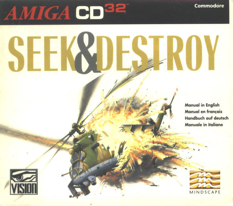 Seek and Destroy Amiga CD32 Front Cover