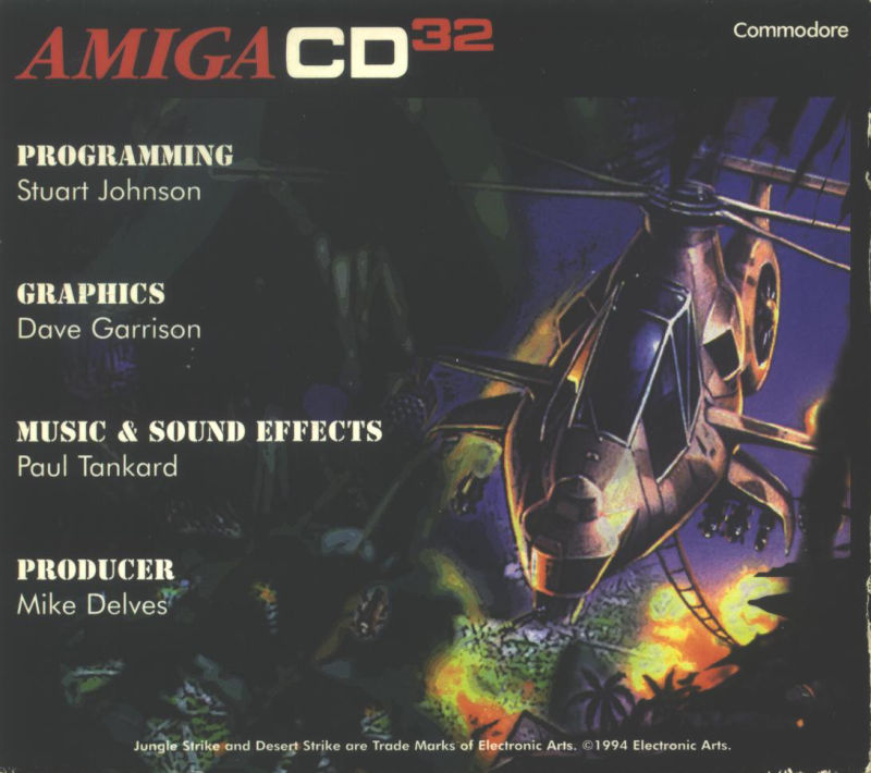 Jungle Strike Amiga CD32 Other Jewel Case - Back