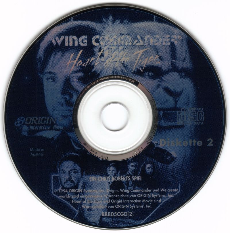 Wing Commander III: Heart of the Tiger DOS Media Disc 2