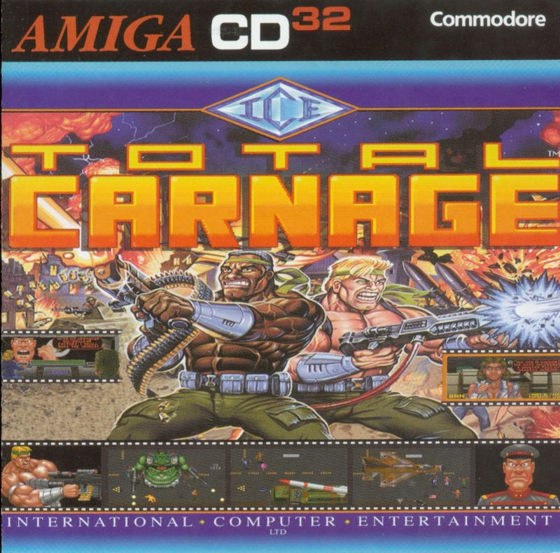 Total Carnage Amiga CD32 Front Cover