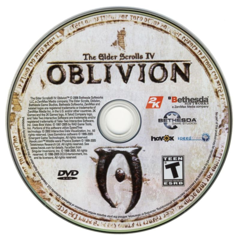 The Elder Scrolls IV: Oblivion (Collector's Edition) Windows Media Game DVD