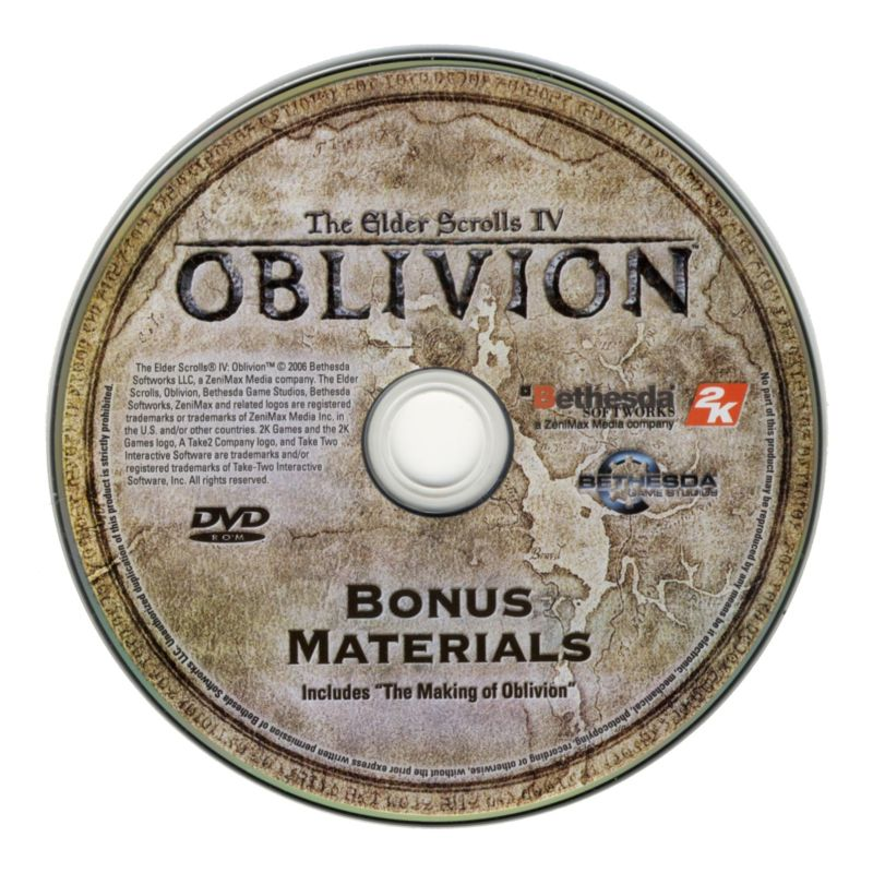 The Elder Scrolls IV: Oblivion (Collector's Edition) Windows Media Bonus DVD