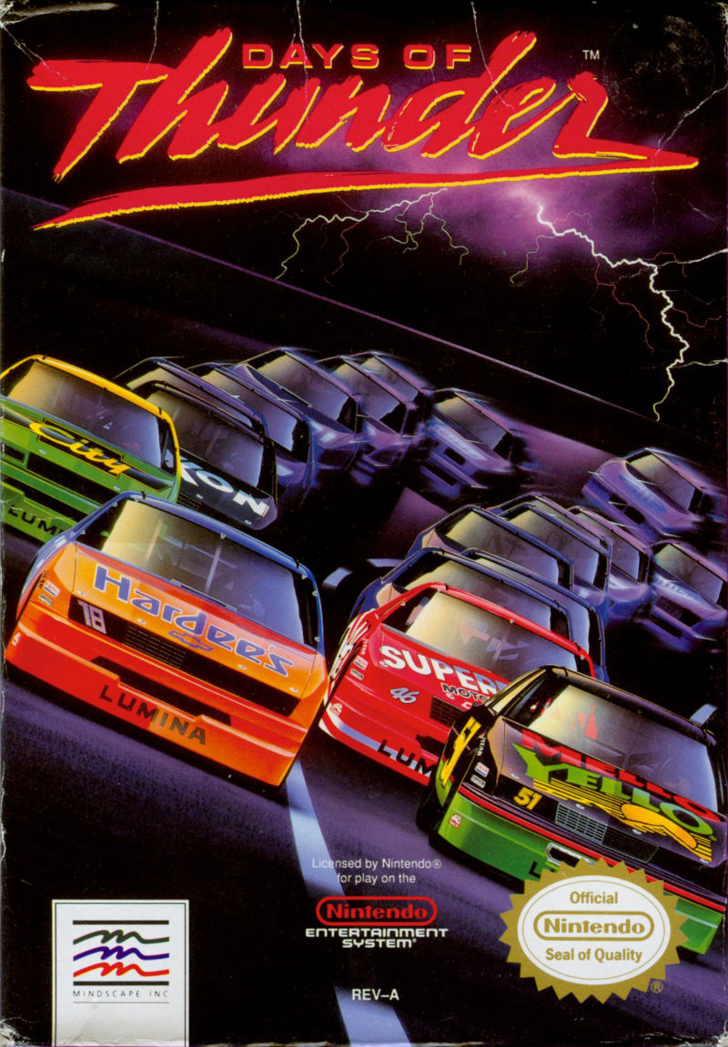 Days of Thunder NES Front Cover