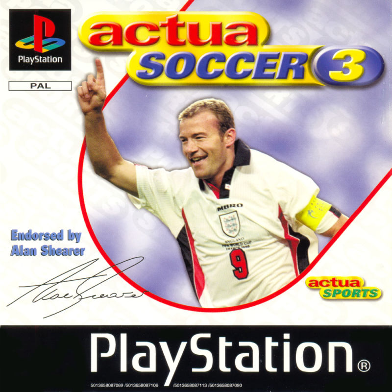 Actua Soccer 3 PlayStation Front Cover