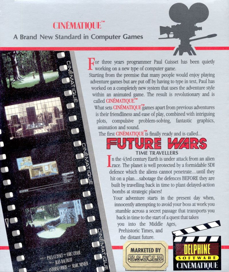 Future Wars: Adventures in Time DOS Back Cover