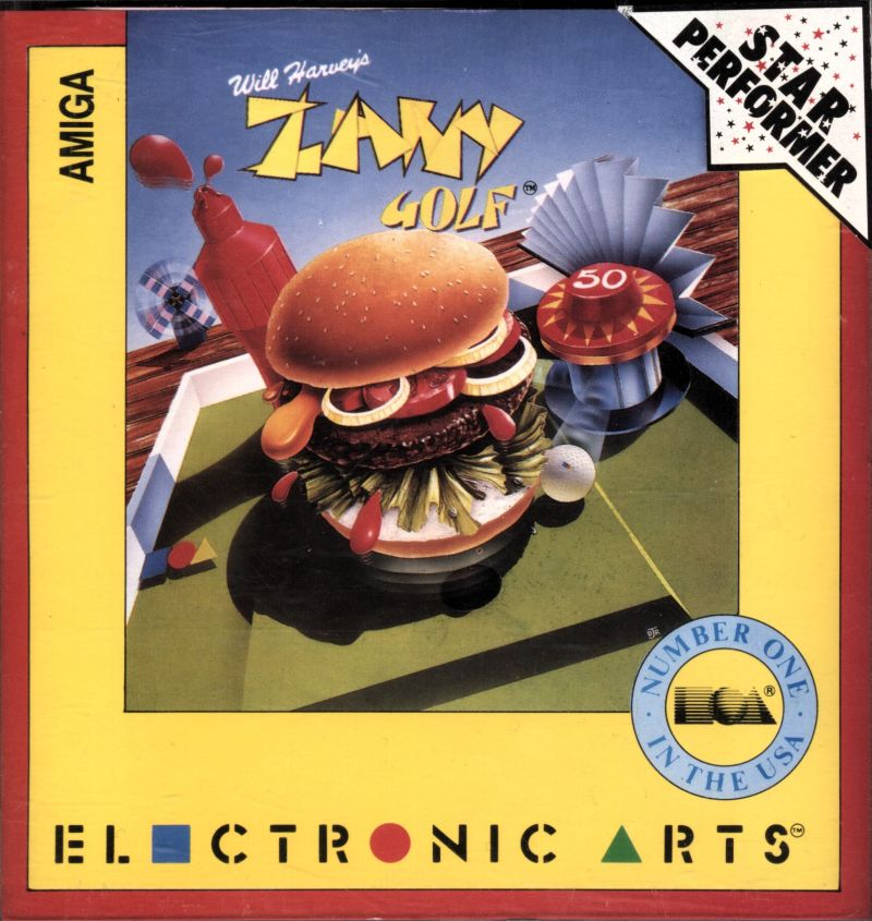 Will Harvey's Zany Golf Amiga Front Cover