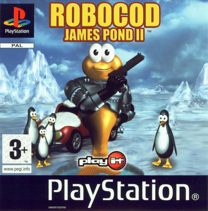 James Pond 2: Codename: RoboCod PlayStation Front Cover