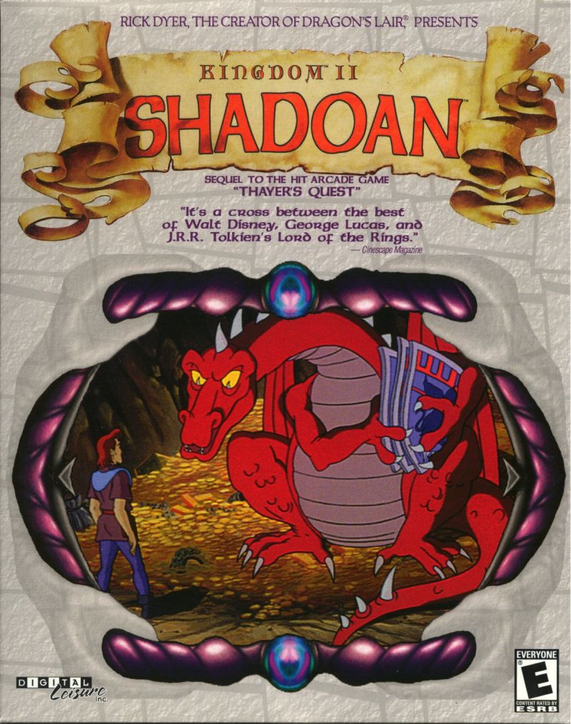 Kingdom II: Shadoan DOS Front Cover