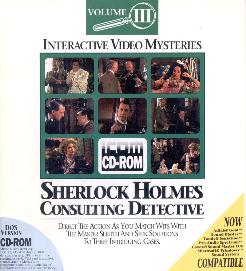 Sherlock Holmes Consulting Detective: Volume III DOS Front Cover