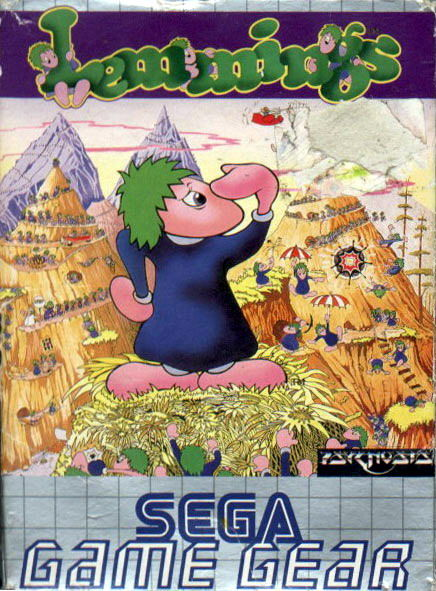 Lemmings Game Gear Front Cover