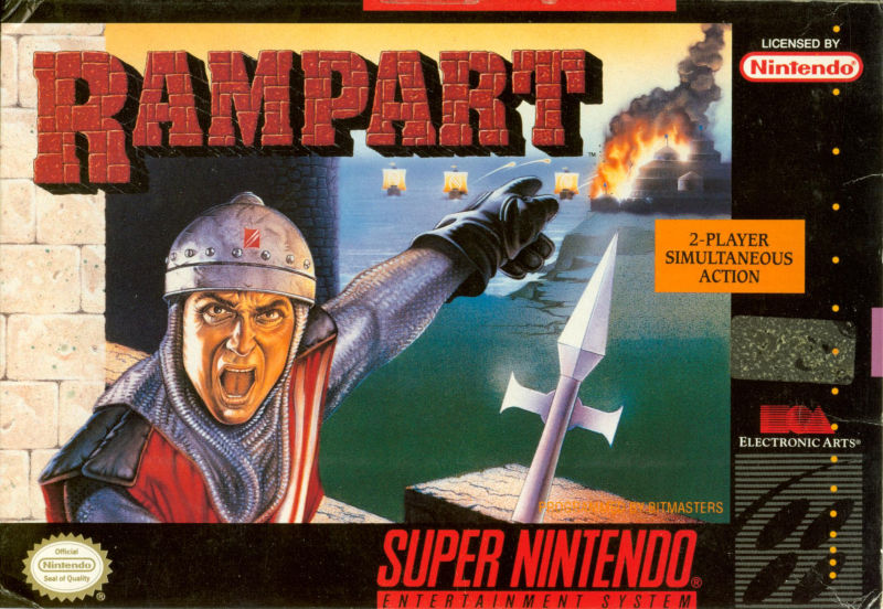 Rampart SNES Front Cover