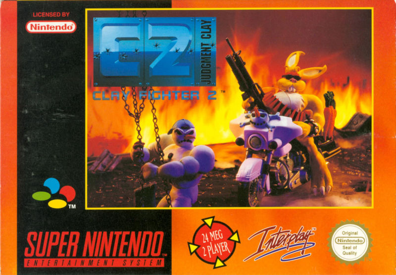 Clay Fighter 2: Judgement Clay SNES Front Cover