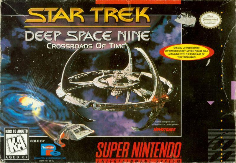 Star Trek: Deep Space Nine - Crossroads of Time SNES Front Cover