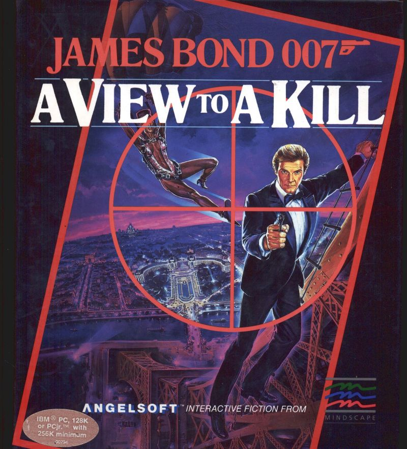 James Bond 007: A View to a Kill DOS Front Cover