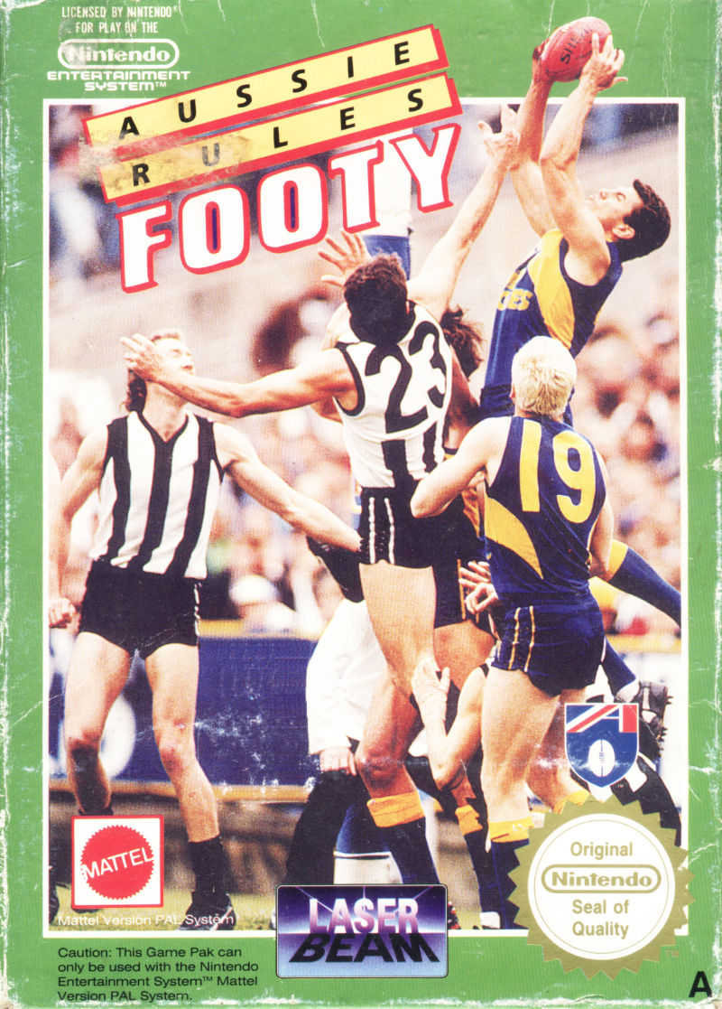 Aussie Rules Footy NES Front Cover