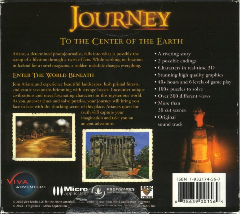 Journey to the Center of the Earth Windows Back Cover