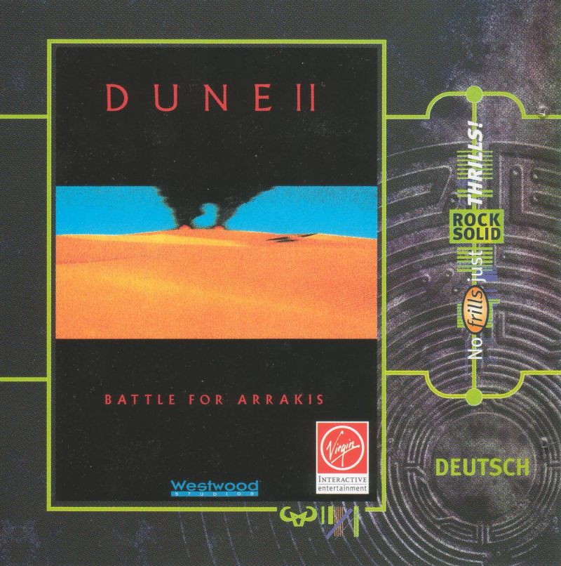 Dune II: The Building of a Dynasty DOS Other Jewel Case - Front