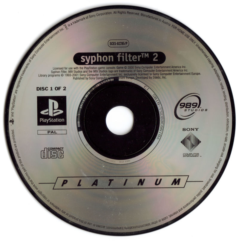 Syphon Filter 2 PlayStation Media