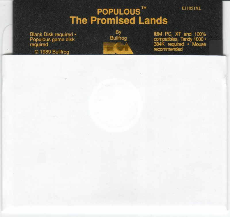 Populous: The Promised Lands DOS Media